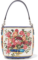 Dolce & Gabbana Printed Textured-leather Tote - White