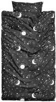 H&M Patterned Duvet Cover Set - Charcoal gray/stars