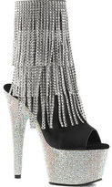 Pleaser USA Women's Bejeweled 1024RSF-7 Open-Toe Ankle Boot