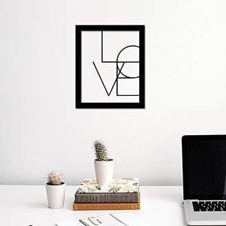 Camilla And Marc WALPLUS Com-CP037M Love Art Canvas Printing with FR030 Black Photo Frame, Vinyl, Multi-Colour, 40 x 30 x 2 cm