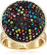 """Trina Turk Confetti And Cocktails"""" Color Pave Ball Ring, Size"""