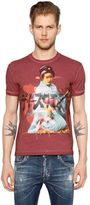 DSQUARED2 Geisha Printed Washed Jersey T-Shirt