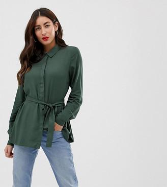 Mama Licious Mama.Licious Mamalicious nursing belted shirt-Green