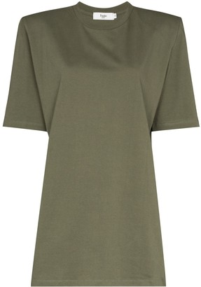 Frankie Shop Sean padded shoulder T-shirt dress
