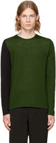 Marni Green and Black Colorblocked Sweater
