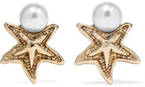 Oscar de la Renta Sea Star Gold-plated Swarovski Pearl Earrings - one size