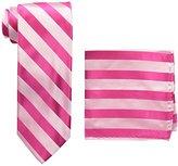 Stacy Adams Men's Solid Woven Formal Stripe Tie Set