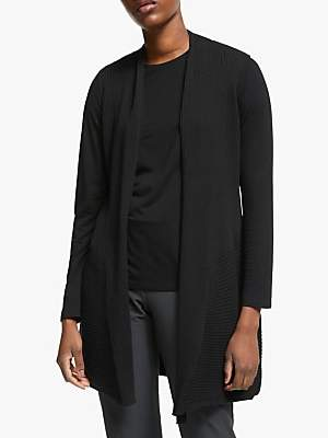 Eileen Fisher Long Merino Wool Vest, Black