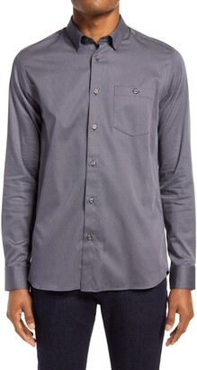 Ted Baker Shuger Slim Fit Stretch Button-Up Shirt
