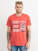 Junk Food Clothing Budweiser Mans Best Friend Tee-rstr-s
