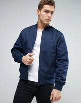 Fred Perry Bomber Jacket Tramline Tipped In Navy
