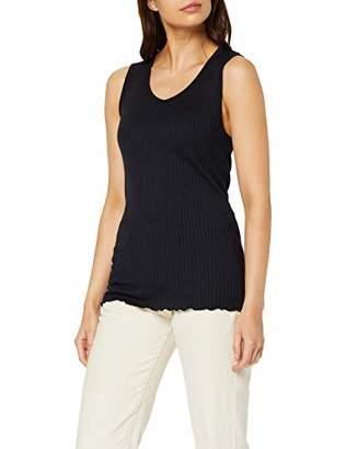 Marc O'Polo Body & Beach Women's W-TOP V-Neck Vest, (White 102), (Size: L)