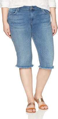 James Jeans Women's Plus Size Bermuda Short Jean