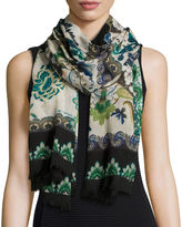 Etro Floral & Paisley Wool Scarf
