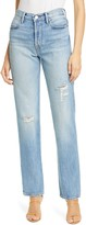 Frame Le Hollywood Distressed Straight Leg Jeans