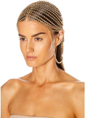 Area Crystal Headpiece in Gold | FWRD