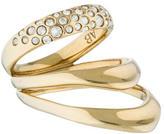 Alexis Bittar Liquid Gold Crystal Encrusted Draping Ring