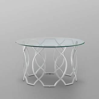 Nicole Miller Tamlyn Coffee Table Table Base Color: Silver