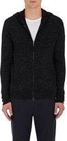 Vince Men's Cotton-Blend Zip-Front Hoodie-BLACK