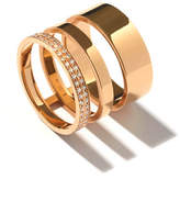 Repossi Technical Berbè;re Diamond Three-Row Band Ring in 18K Gold