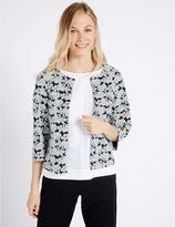 Marks and Spencer Floral Print Collarless Jacket