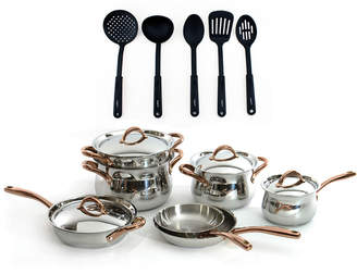Berghoff Ouro Gold 18/10 16Pc Stainless Steel Cookware Set With 5Pc Nylon Tool Set
