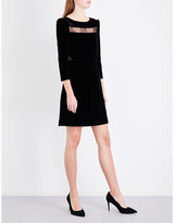 Maje Remano lace-detail velvet dress