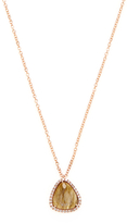 Meira T 14K Rose Gold, Labradorite & 0.05 Total Ct. Diamond Pendant Necklace