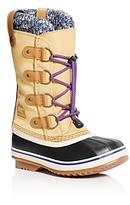 Sorel Girls' Joan of Arctic Knit Waterproof Boots - Little Kid, Big Kid