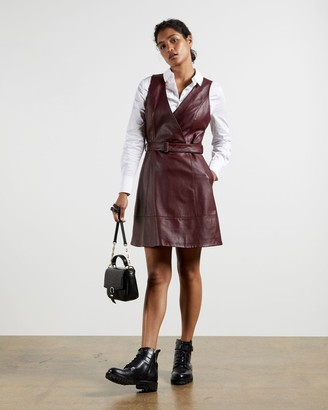 Ted Baker Leather Belted Wrap Dress