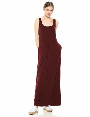 Daily Ritual Jersey Sleeveless Empire-Waist Maxi Dress Casual