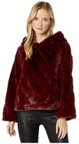 True Grit Dylan By Dylan by Shearling Faux Fur Raglan Pullover Sweater (Berry/Burgundy) Women's Clothing