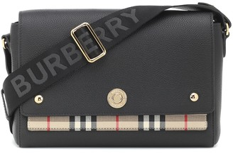 Burberry Note leather shoulder bag