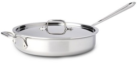 All-Clad 3-qt. Tri-Ply Polished Stainless Steel Saute Pan with Lid