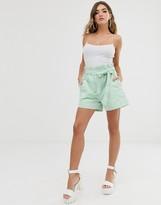 NA-KD paper bag cotton shorts