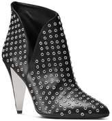 Michael Kors Women's Angelina Leather Grommet High Heel Booties