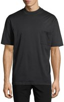 Lanvin Mock-Neck Jersey T-Shirt