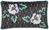 V&A Gardenia 30x50 Black Cushion