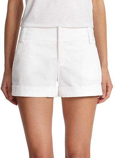 Alice + Olivia Cady Cuffed Shorts
