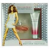 Celine Dion SENSATIONAL by Gift Set for WOMEN: EDT SPRAY 1 OZ & SHIMMER BODY LOTION 2.5 OZ