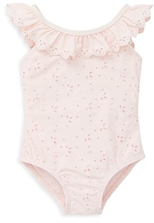 Little Me Girls' Ruffle Eyelet Swimsuit - Baby