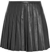 Belstaff Kaddington Pleated Leather Mini Skirt
