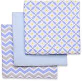 Boppy 3-Pack Jacks Receiving Blankets in Blue