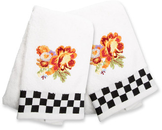 Mackenzie Childs Peony Hand Towels Set of 2