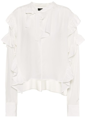 Isabel Marant Libel ruffled silk blouse