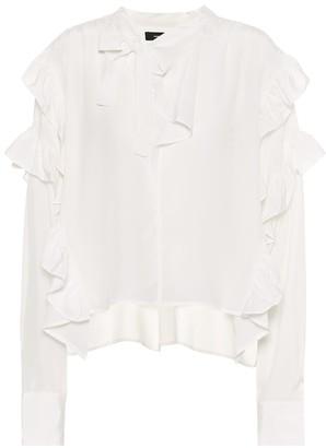 Isabel Marant Libel ruffled silk blouse