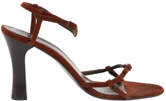 Bottega Veneta Brown Suede Sandals