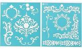 Martha Stewart Crafts Medium Stencils (8.75 By 9.75-inch), 32255 Flourish (2