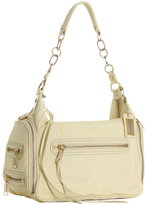 pale banana leather 'Olympus' shoulder bag