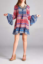 Velzera Paisley Bell Sleeve Dress